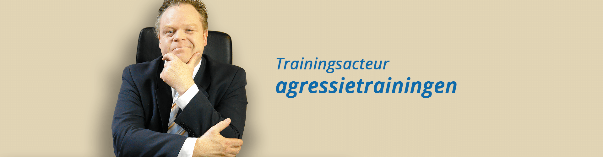 Trainingsacteur agressietrainingen